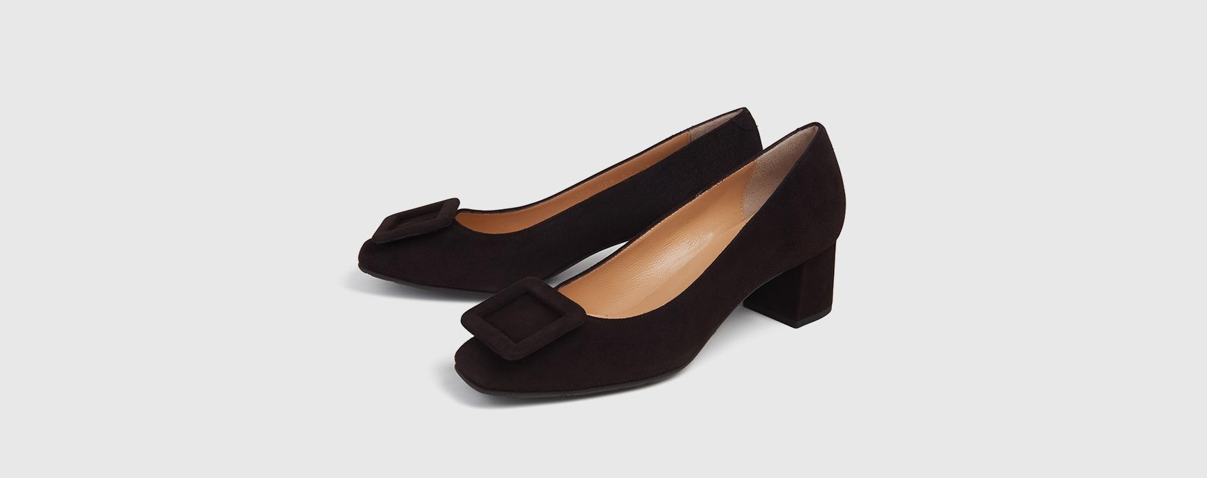 Blue Velvet Shoes Pumps