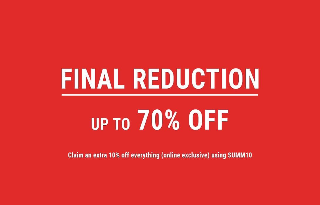 final reduction sale