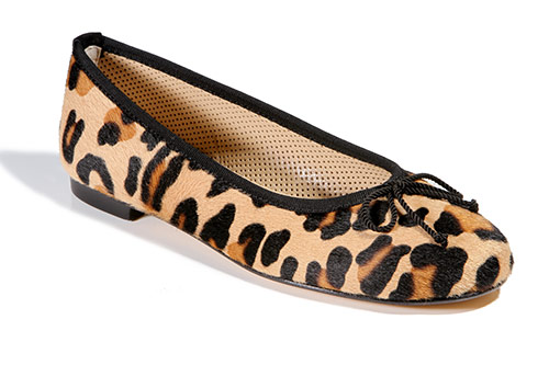 Animal print leather