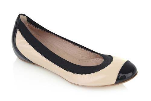 Flexible lether sole soft beige leather