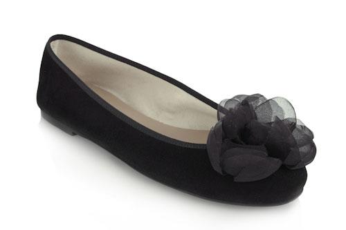 Black suede 0.5cm heel